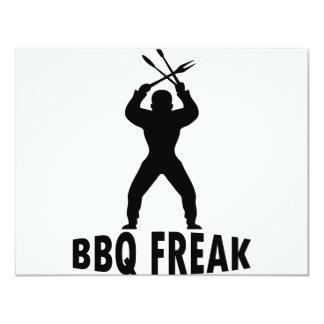 BBQ-freak with cutlery Card