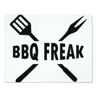 BBQ-Freak with cutlery icon Card