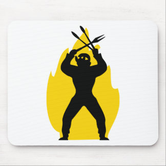 BBQ freak with cutlery icon Mouse Pad