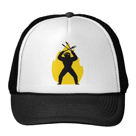 BBQ freak with cutlery icon Trucker Hat