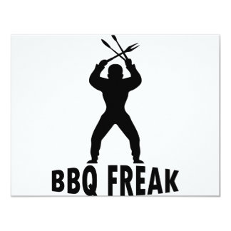BBQ-freak with cutlery Personalized Announcement