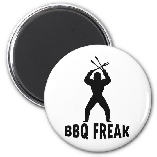 BBQ-freak with cutlery Magnet