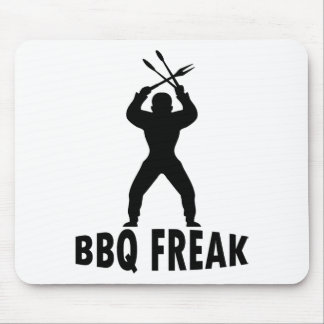 BBQ-freak with cutlery Mouse Pad