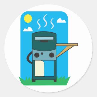 bbq gas grill round stickers