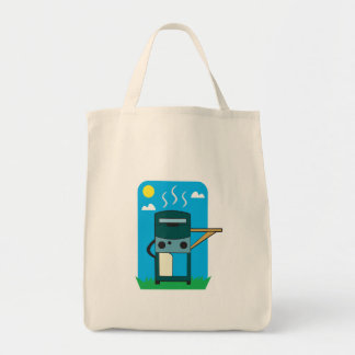bbq gas grill tote bag