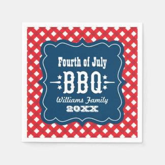BBQ Gingham Plaid Napkins | 4th of July
