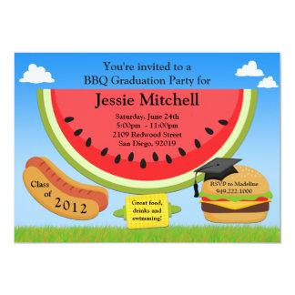 BBQ Graduation Party Invitation Class of 2013