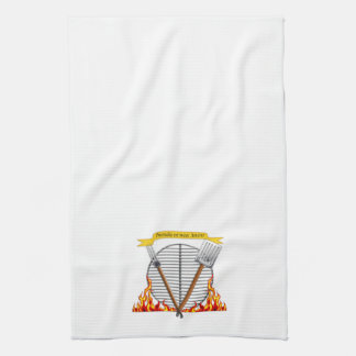 BBQ Grill Fire is Your Friend on White Hand Towel