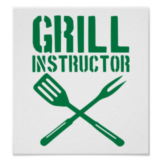 BBQ - Grill Instructor Poster
