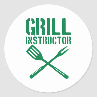 BBQ - Grill Instructor Round Stickers