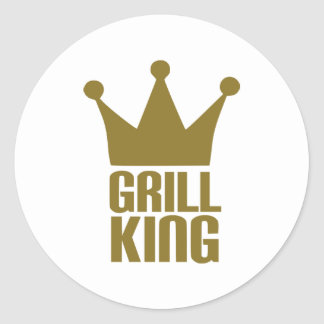 BBQ - Grill king Round Stickers