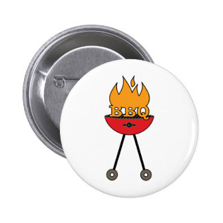 BBQ Grill Pinback Button