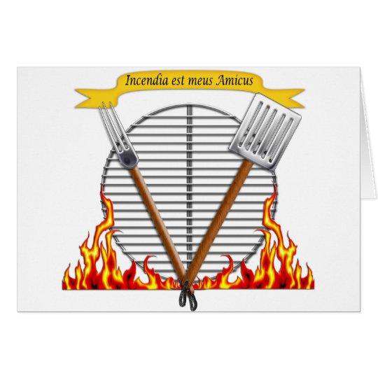 BBQ Grill Royal Crest Card