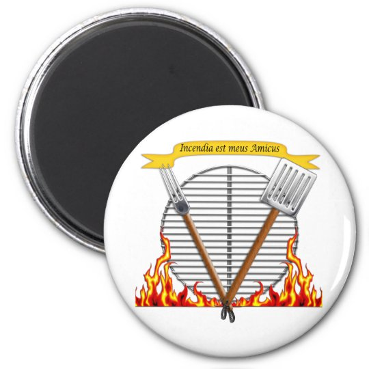 BBQ Grill Royal Crest Magnet