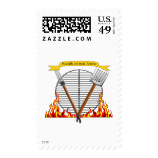 BBQ Grill Royal Crest Stamp