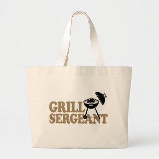 BBQ Grill Sergeant Large Tote Bag