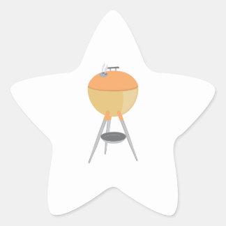 BBQ Grill Star Sticker