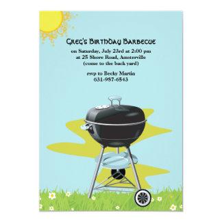 BBQ Grill Summer Invitation