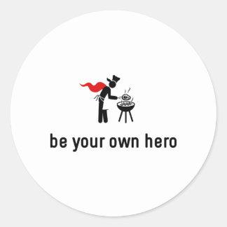 BBQ Hero Classic Round Sticker
