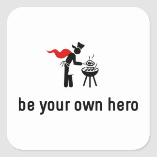 BBQ Hero Square Sticker