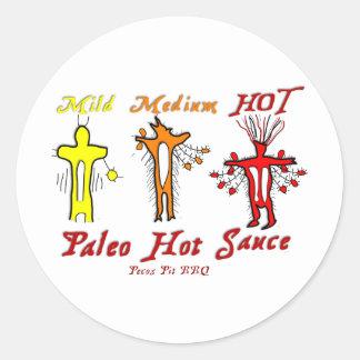 BBQ Hot Sauce Classic Round Sticker