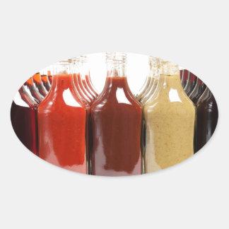 BBQ hot sauces Oval Sticker