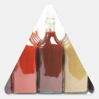 BBQ hot sauces Triangle Sticker