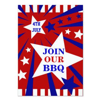 Bbq INVITACIÓN del 4 de julio