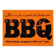 BBQ invitation at Zazzle