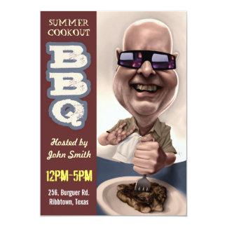 """BBQ Invitation 001 5"""" X 7"""" Invitation Card"""