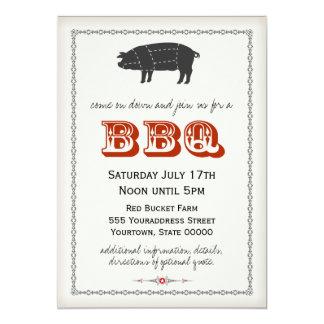 """BBQ Invitation 5"""" X 7"""" Invitation Card"""