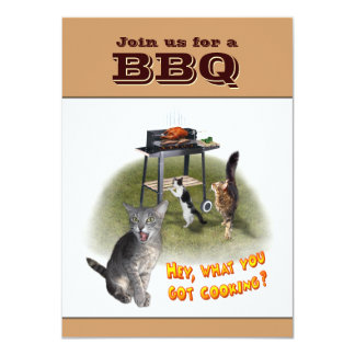 BBQ Invitation with Cats