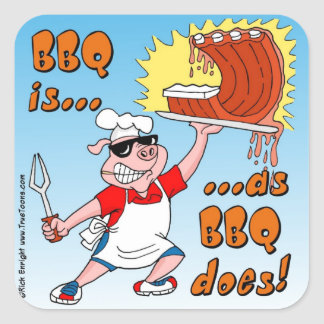 BBQ IS AS BBQ DOES! BBQ Sticker