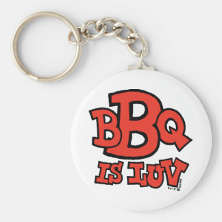 BBQ is Luv keychain