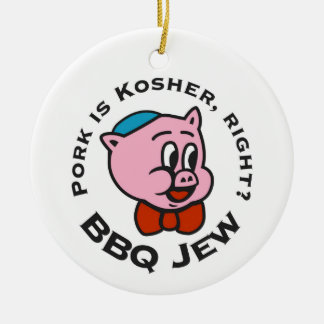 BBQ Jew Christmas Ornament - One Sided