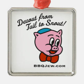 BBQ Jew Christmas Ornament - Premium