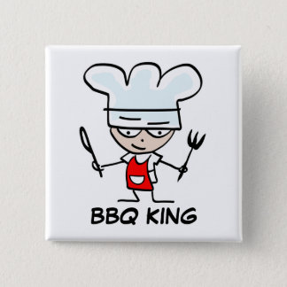 BBQ King buttons | Custom name badge