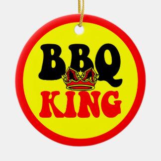 BBQ King Ceramic Ornament
