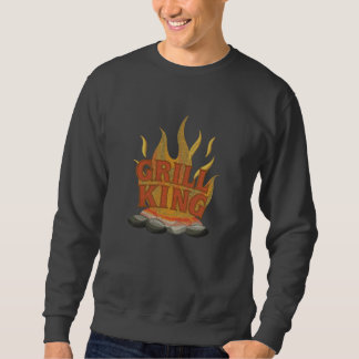 BBQ King Cooking Embroidered Sweatshirt