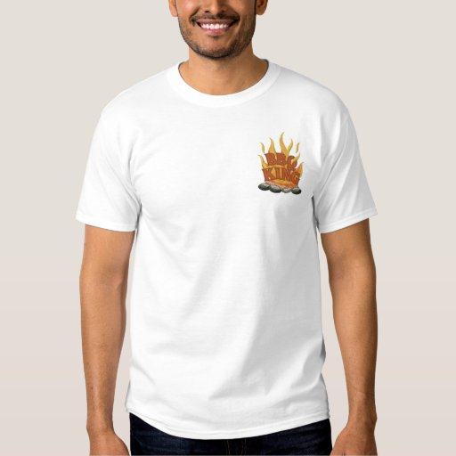 BBQ King Cooking Embroidered T-Shirt