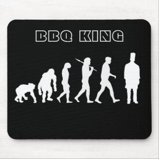 BBQ King Evolution of Grill Masters Cooking Art Mouse Pad