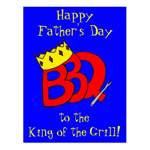 BBQ King Father's Day Postcard