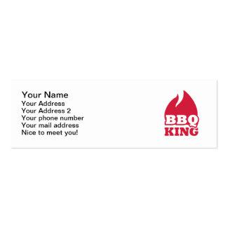 BBQ King flame fire Mini Business Card