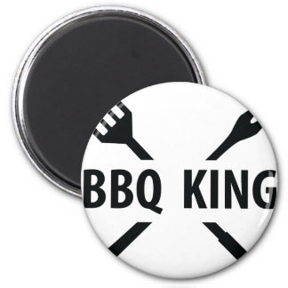 BBQ King icon 2 Inch Round Magnet