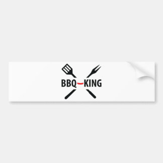 BBQ-King icon Bumper Sticker