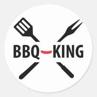 BBQ-King icon Classic Round Sticker