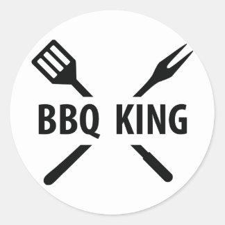 BBQ King icon Classic Round Sticker