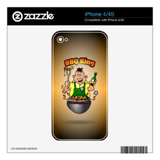 BBQ King iPhone 4S Decals