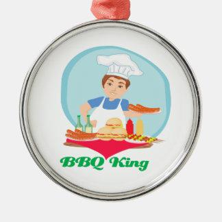 BBQ king Metal Ornament
