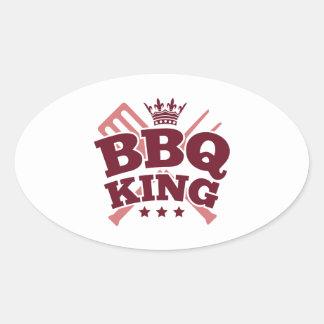BBQ KING OVAL STICKER